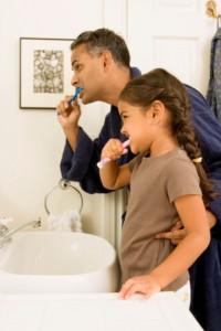 family dentist natick loves teaches families proper brushing